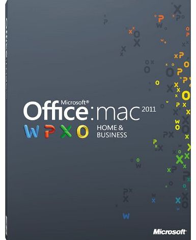 Office Mac 2011 Home and Business 2011 - 1 User [Download]